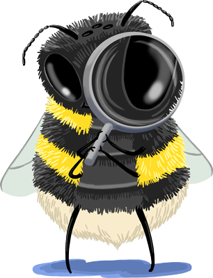 bumblebees have smelly feet magnifying glass