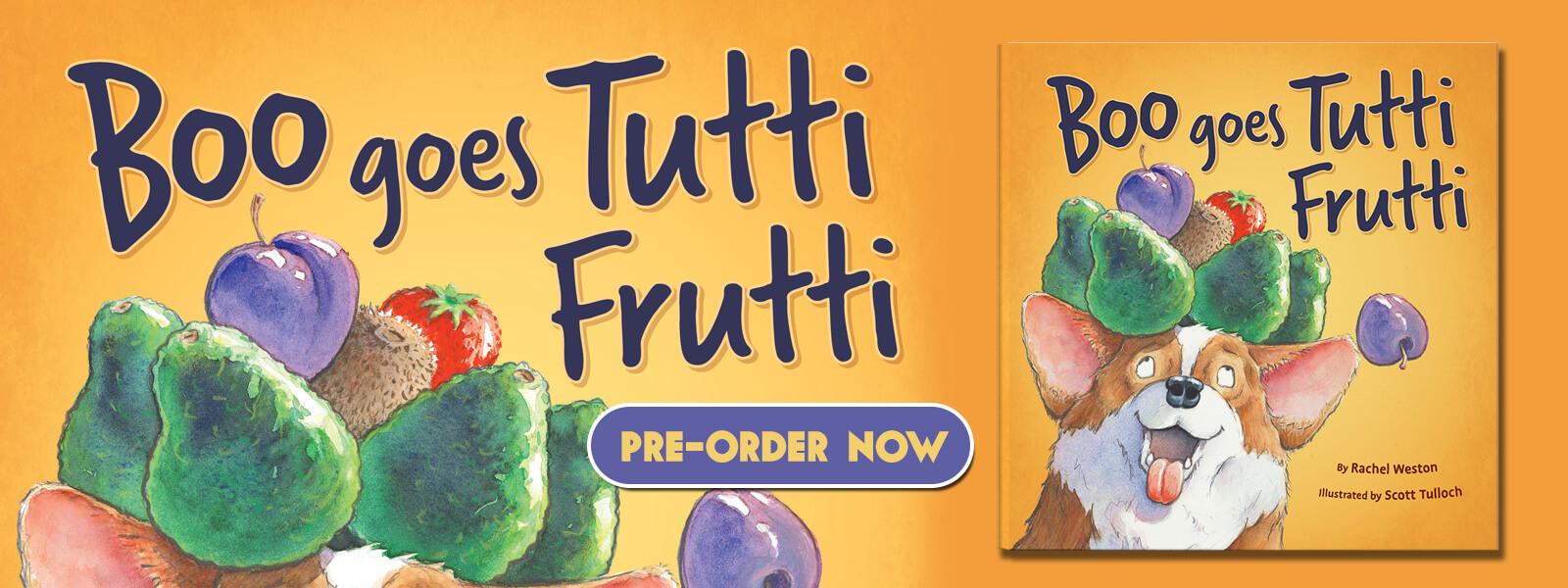 boo goes tutti frutti childrens fiction book rachel weston